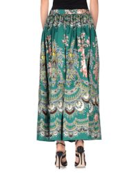 MSGM - Green Long Skirt - Lyst