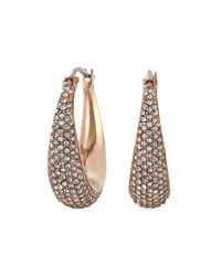 Michael Kors - Pink Brilliance Pave Hoops - Lyst