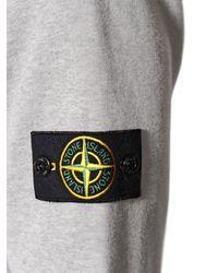 Stone Island Gray Hooded Cotton Sweatshirt for men