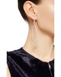 Nina Runsdorf - Metallic Moonstone And Rose Cut Diamond Earrings - Lyst