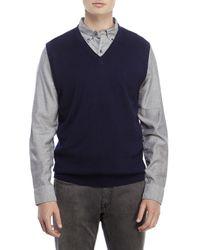 Izod - Blue Links Stitch Sweater Vest for Men - Lyst