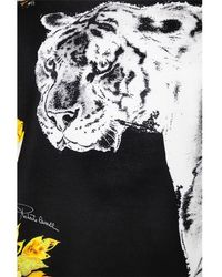 Roberto Cavalli - Multicolor Tiger & Flower Printed Jersey Sweatshirt - Lyst