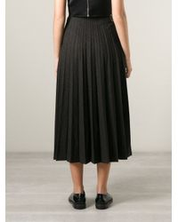 Comme des Garçons - Gray 'Tricot Cdg' Pleated Skirt - Lyst