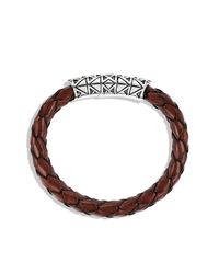 David Yurman - Metallic Frontier Bracelet With Tiger's Eye In Brown Leather for Men - Lyst
