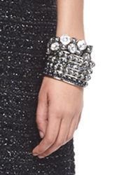 St. John | Metallic Signature Pearly & Crystal Cuff | Lyst