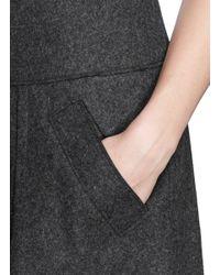 Vince Gray Felt Wool Blend Flare Skirt