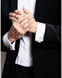 Vivienne Westwood Metallic Diamante Orb Cufflinks for men