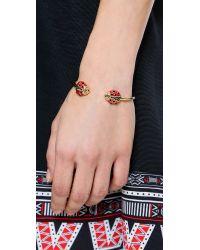 kate spade new york - Ladybug Thin Cuff Bracelet - Red Multi - Lyst