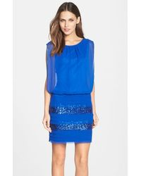 Aidan By Aidan Mattox | Blue Blouson Dress | Lyst