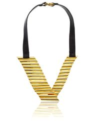 Maiyet | Metallic Gold-plated Brass Empire Necklace | Lyst