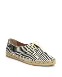 Tabitha Simmons | Black Dolly Striped Grosgrain Espadrille Sneakers | Lyst