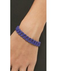 Marc By Marc Jacobs - Rubber Chain Bracelet - Mineral Blue - Lyst