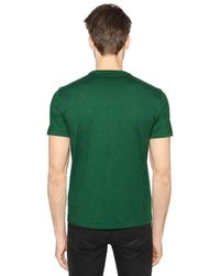 Polo Ralph Lauren | Green Logo Embroidered Cotton T-shirt for Men | Lyst