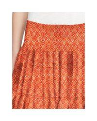 Ralph Lauren - Multicolor Geometric-print Tiered Skirt - Lyst