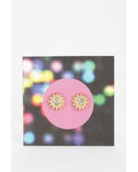Urban Outfitters - Metallic Sunburst Gift Card Earring - Lyst