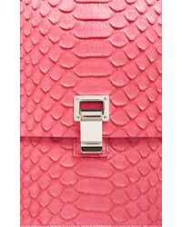 Proenza Schouler Pink Python Large Lunch Bag Clutch