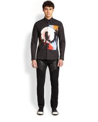 Givenchy - Black Abstract Print Woven Sportshirt for Men - Lyst