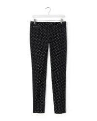 Banana Republic - Black Sloan-fit Dot Slim Ankle Pant - Lyst