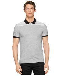 Calvin Klein - Black Ck One Jacquard Solid Polo for Men - Lyst