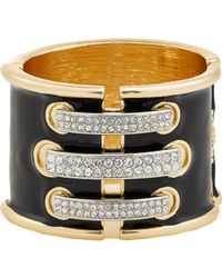 Kenneth Jay Lane | Metallic Women's Laced Hinged Bracelet | Lyst