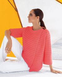 Pure Handknit - Pink Summer Crush Swing Wrap Cardigan - Lyst