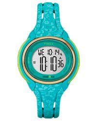 Timex - Women's Digital Ironman Sleek Blue Silicone Strap Watch 57mm Tw5m03100jt - Lyst