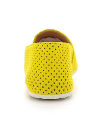 MM6 by Maison Martin Margiela | Perforated Neoprene Flats - Yellow | Lyst
