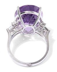 Kojis - Purple White Gold Amethyst Diamond Shoulder Ring - Lyst