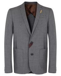Kolor Gray Grey Wool Blazer for men