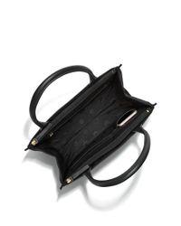 Tory Burch - Black Ella Mini Canvas & Leather Tote - Lyst