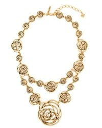 Oscar de la Renta | Metallic Swirls Double Necklace | Lyst