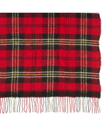 Étoile Isabel Marant Red Check Carlton Scarf