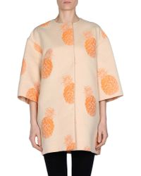 MSGM - Orange Full-length Jacket - Lyst