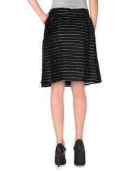 Armani - Black Knee Length Skirt - Lyst