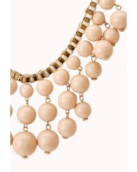 Forever 21 - Metallic Standout Beaded Bib Necklace - Lyst
