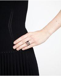 Repossi - 18k Black Gold White Noise Ring - Lyst