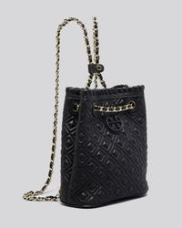 Tory Burch Black Backpack - Marion Quilted Small