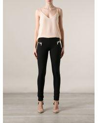 Les Chiffoniers Black Zip Detail Trousers