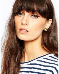 Bill Skinner | Metallic Lilypad & Fresh Water Pearl Stud Earrings | Lyst