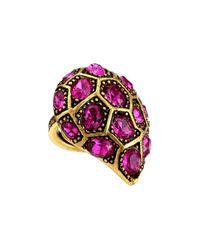 Oscar de la Renta | Purple Bold Pave Ring | Lyst