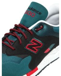 New Balance - Green 1600 Microfiber & Mesh Sneakers - Lyst