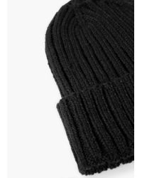 Mango | Black Ribbed Beanie for Men | Lyst