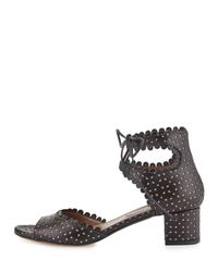 Tabitha Simmons - Black Tallulah Leather Sandals - Lyst