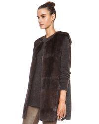 Isabel Marant - Brown Adrien Fur Vest - Lyst