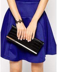 ASOS | Black Filigree Cuff Bracelet | Lyst