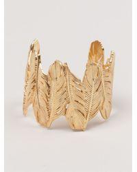 Joanna Laura Constantine | Metallic Gold-toned Feather Cuff | Lyst