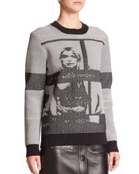 Opening Ceremony - Gray Printed Sweater - Lyst