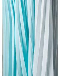 Fendi - Blue Long Pleated Skirt - Lyst