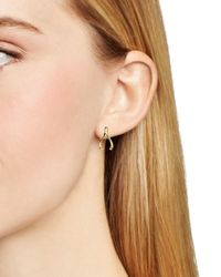 kate spade new york - Metallic Dainty Sparklers Wishbone Stud Earrings - Lyst