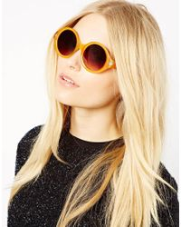 Quay Thick Framed Orange Oversized Sunglasses